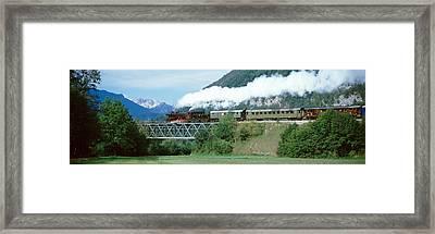 Train On A Bridge, Bohinjska Bistrica Framed Print