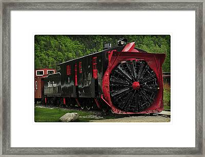 Train Passing Framed Print