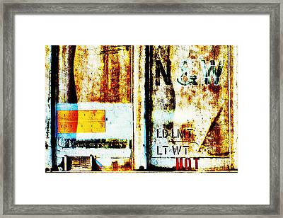 Train Plate 4 Framed Print by April Lee