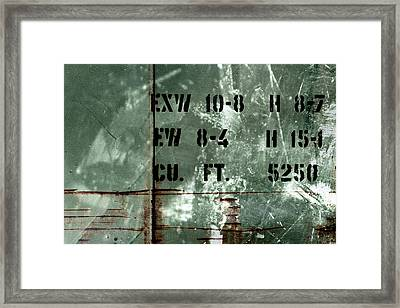 Train Plate One Framed Print by April Lee