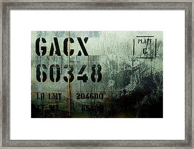 Train Plate Two Framed Print by April Lee