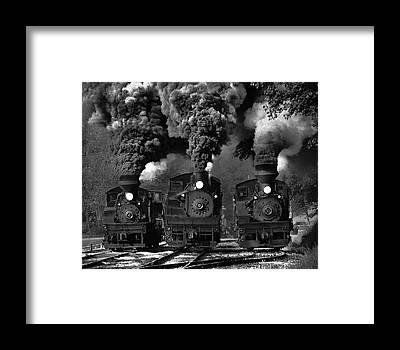 Steam Engine Framed Prints
