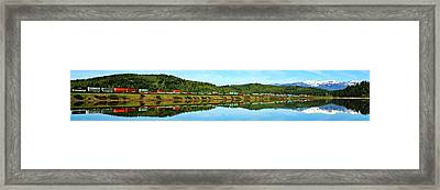 Train Reflecting Framed Print by Benjamin Yeager
