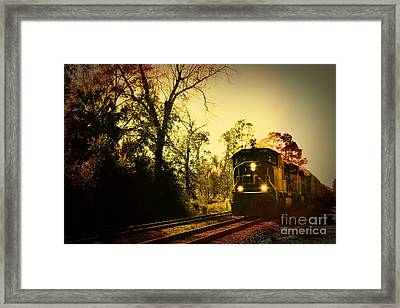 Train Ride Framed Print by Janice Spivey