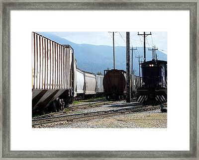 Train Shunting Station Framed Print by Nicki Bennett