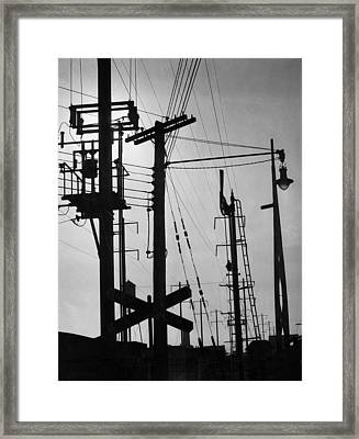 Train Signals Framed Print by Underwood Archives