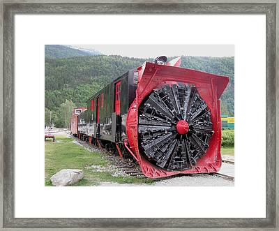 Train Snowplow Framed Print by Steven Parker
