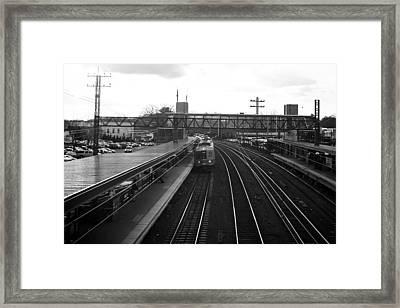 Train Station Framed Print by Alexander Mendoza