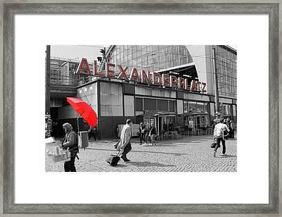 Train Station Alexanderplatz Framed Print by Steve K