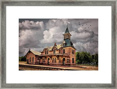 Train Station At Point Of Rocks Framed Print by Lois Bryan
