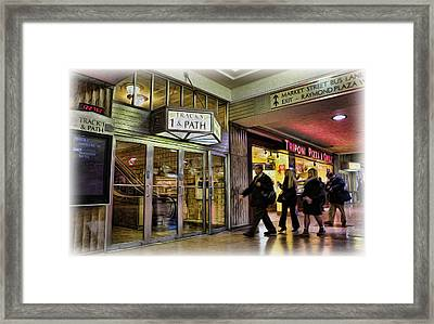 Train Station - Going Home II Framed Print by Lee Dos Santos