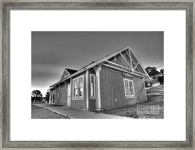 Train Station In Beulah Framed Print