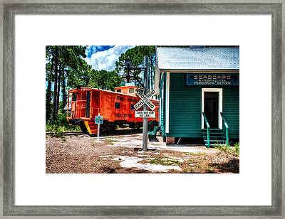 Train Station In Hdr Framed Print by Michael White