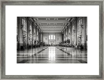 Train Station Framed Print by Sennie Pierson
