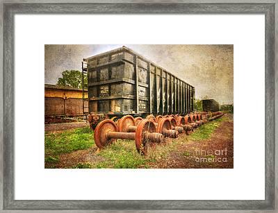 Train - The Freight Car Framed Print by Paul Ward