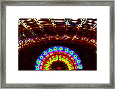 Train To Hades Framed Print by Leslie Cruz