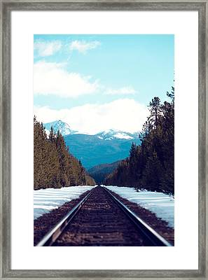 Train To Mountains Framed Print by Kim Fearheiley