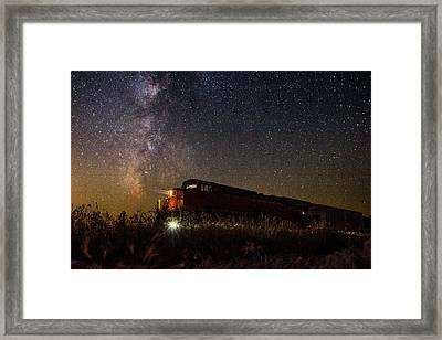 Train To The Cosmos Framed Print by Aaron J Groen