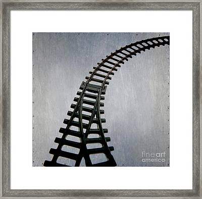 Train Tracks Framed Print by Bernard Jaubert