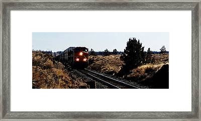 Train Tracks Framed Print by Jennifer Muller