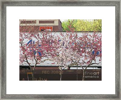 Framed Print featuring the photograph Train Tracks by Michael Krek