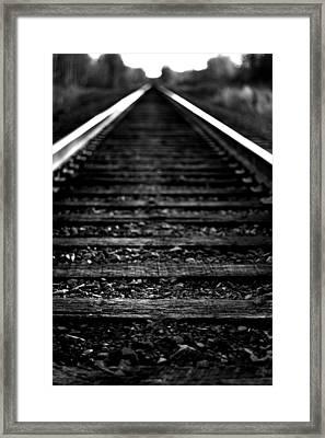 Train Tracks Framed Print by Nikki Dunn