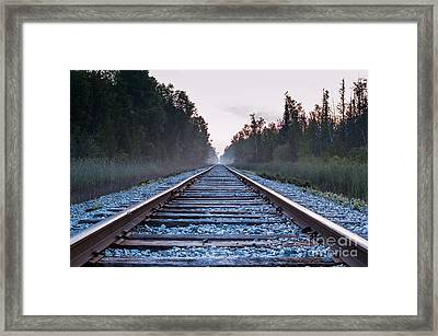 Framed Print featuring the photograph Train Tracks To Nowhere by Patrick Shupert