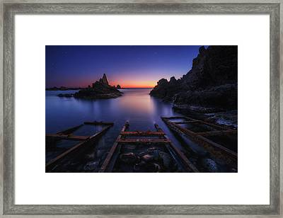 Train Trails Framed Print by Juan Pablo De