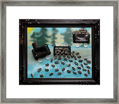 Train Train Go Away And Leave Our Kids A Place To Play Framed Print