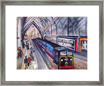 Train Train Train Framed Print by Esther Woods