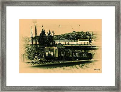 Train Travel In The Future Framed Print by Klaas Hartz