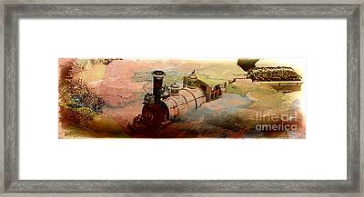 Train Travel Framed Print by Michelle Frizzell-Thompson