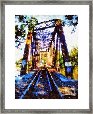 Train Trestle Bridge 2 Framed Print by Janine Riley