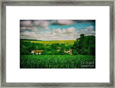 Train Trip Countryside Framed Print