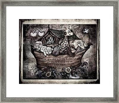 Train Up A Child Muted Framed Print by La Rae  Roberts