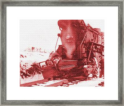 Train V Car Framed Print by R Muirhead Art