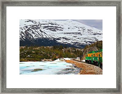 Train Views From Skagway Framed Print by Leslie Kirk