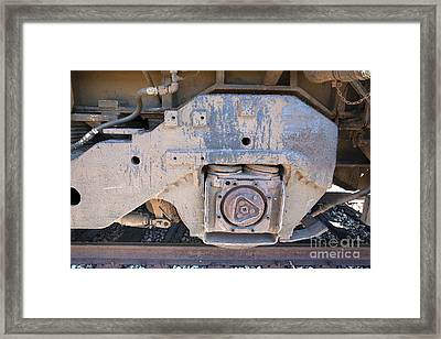 Train Wheel Framed Print by Russell Christie