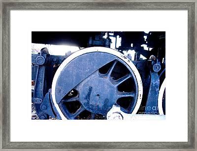Train Wheel Framed Print by Thomas Marchessault