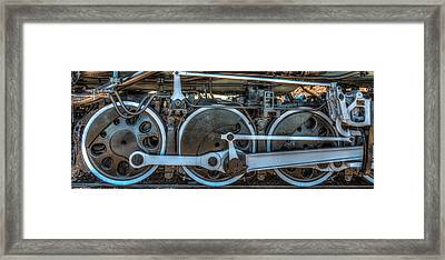 Train Wheels Framed Print by Paul Freidlund