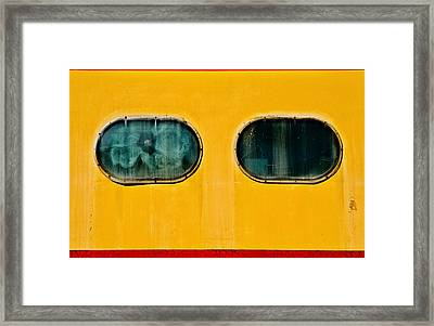 Framed Print featuring the photograph Train Window by Bud Simpson
