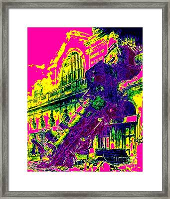 Train Wreck At Montparnasse Station 20130525 Framed Print by Wingsdomain Art and Photography