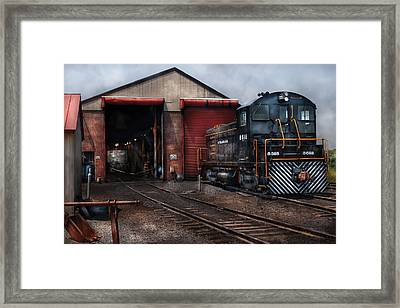 Train - Yard - Strasburg Repair Center Framed Print by Mike Savad