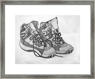 Trainer Footwear Framed Print