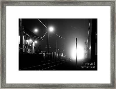 Trains Arriving Framed Print by Steven Macanka