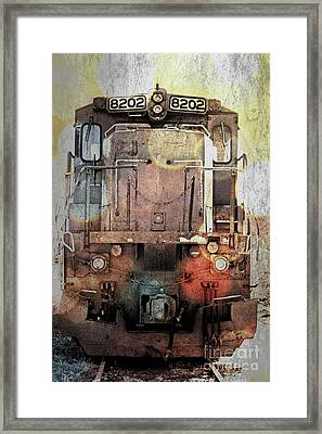 Trains At Rest Framed Print