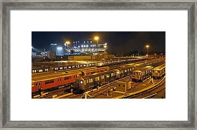 Trains Nyc Framed Print by Jeffrey Friedkin