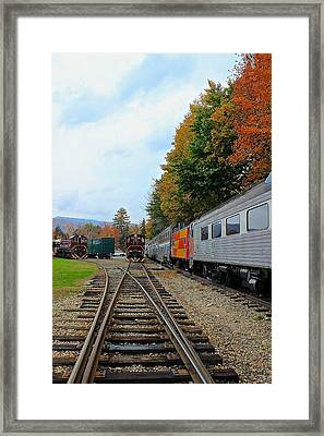 Framed Print featuring the photograph Trains Of Nh by Amazing Jules