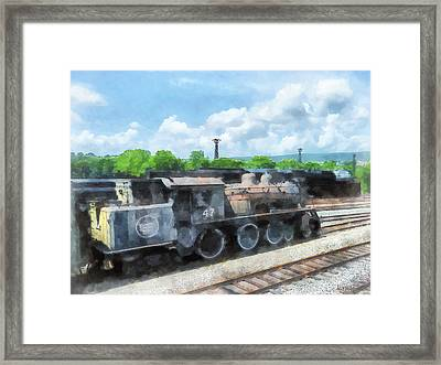Trains - Old Locomotive Framed Print by Susan Savad