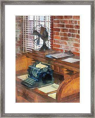Trains - Station Master's Office Framed Print by Susan Savad